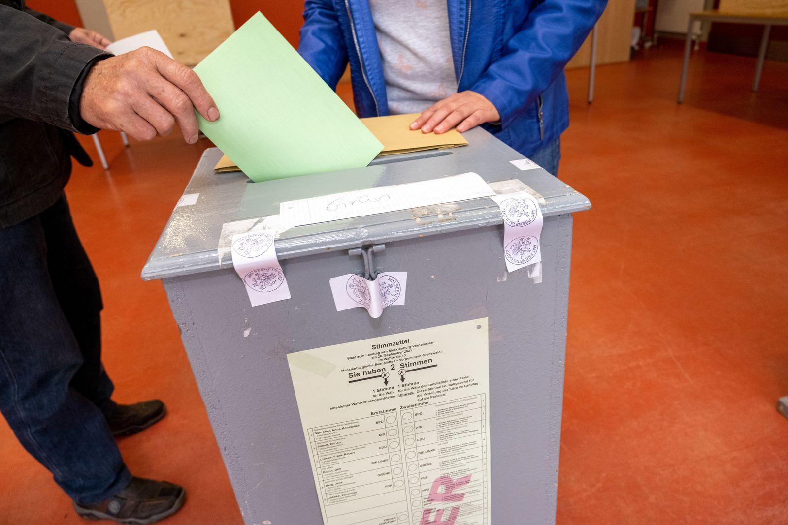 Bundestagswahl - Stimmabgabe