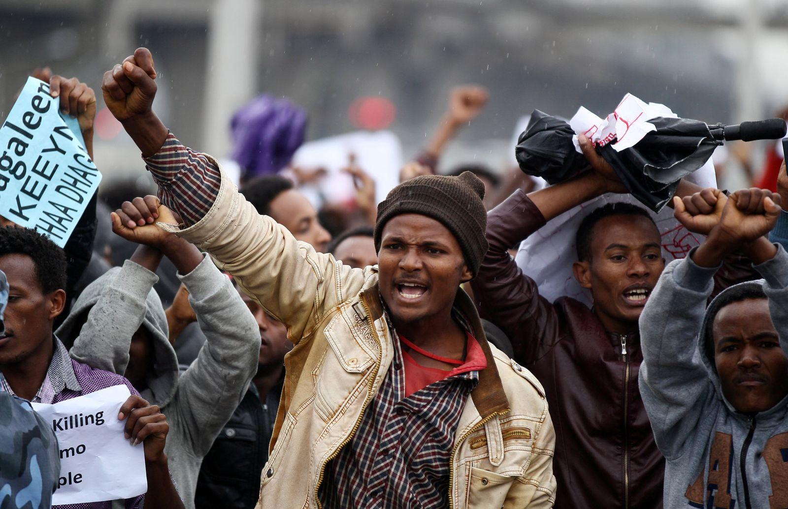 Äthiopien Proteste Addis abeba