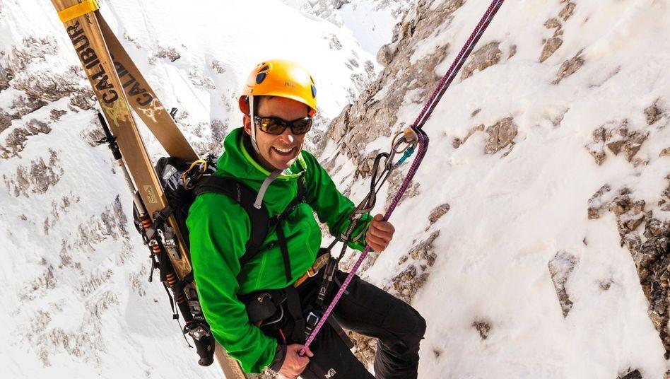 Skibergsteiger am Schneefernerkopf Eines der riskantesten Abenteuer