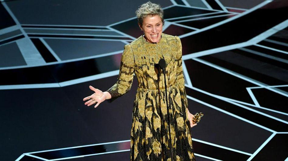 Frances McDormand bei den Oscars