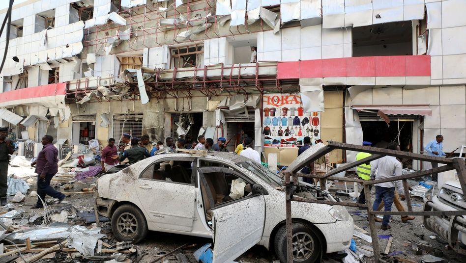 Anschlagsort in Mogadischu