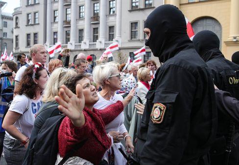 Proteste am Sonntag in Minsk, Belarus