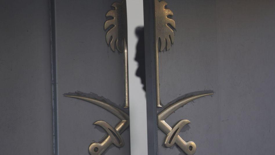 Eingang des saudi-arabischen Konsulats in Istanbul