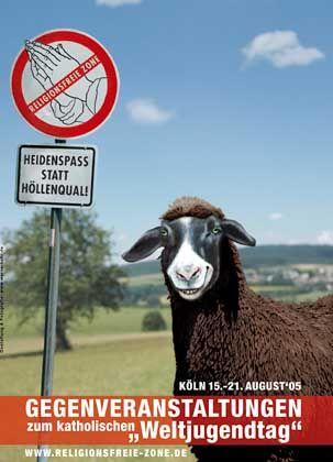 "Beten verboten: ""Heidenspaß statt Höllenqual"" fordert religionsfreie Zonen"