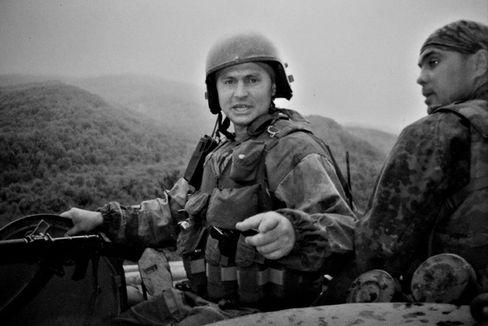 Sergej Illarionow 2001 in Tschetschenien