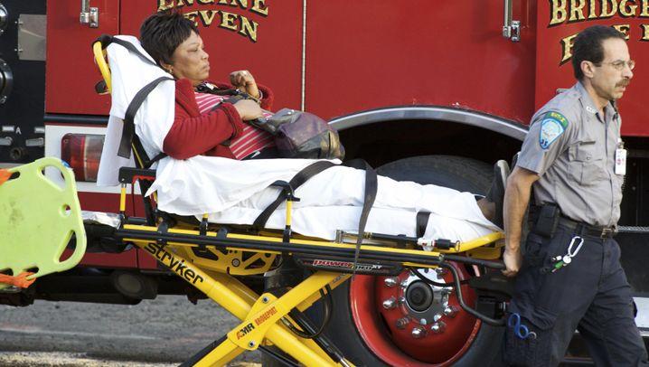 Fotostrecke: Zugunglück in Bridgeport