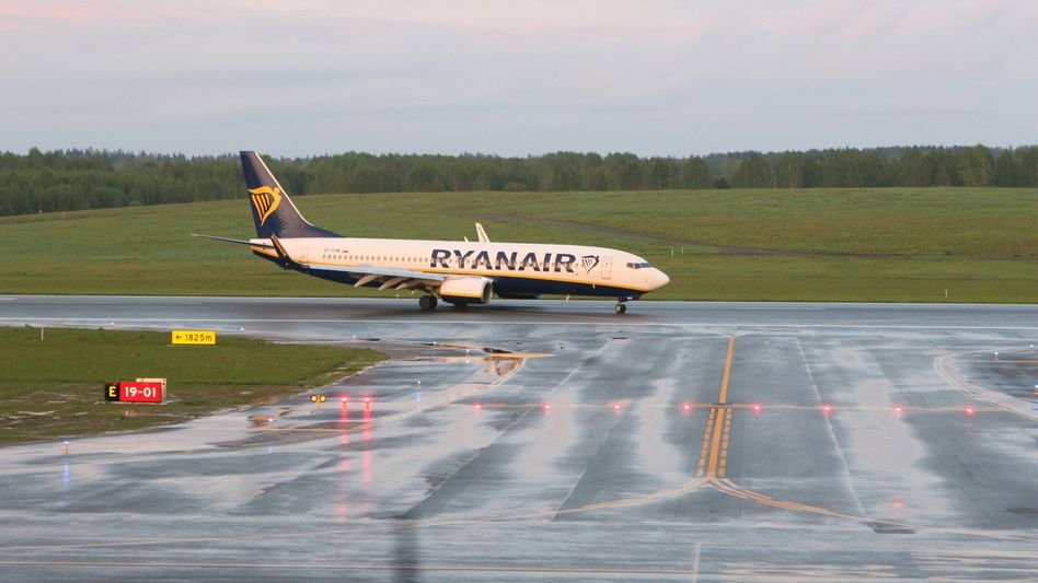 Zum Politikum geworden: Ryanair-Maschine nach der Landung in Vilnius