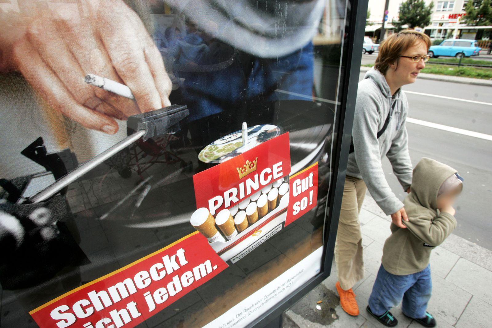 Tabak-Werbung / Zigaretten-Werbung