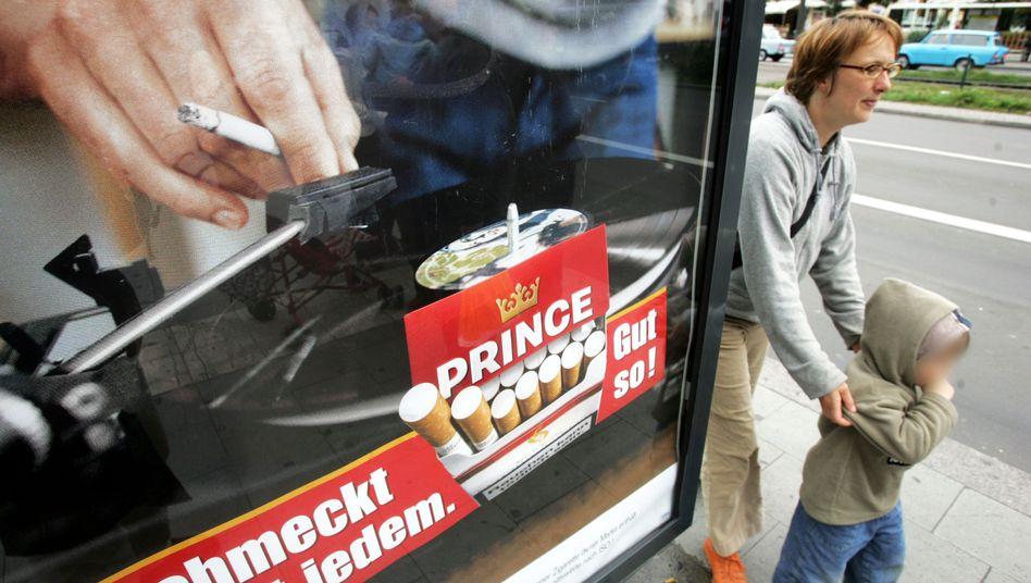 Tabakwerbung in Berlin