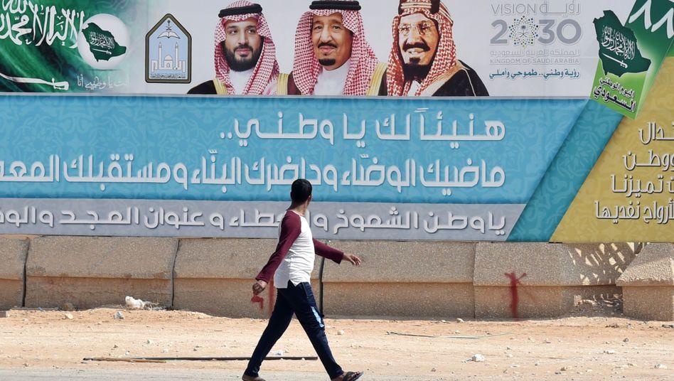Bild der herrschenden Familie in Riad