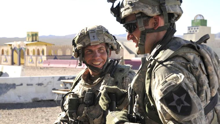 US-Soldat Bales (l.): Zurzeit sitzt er in Haft in einem Militärgefängnis in Kansas