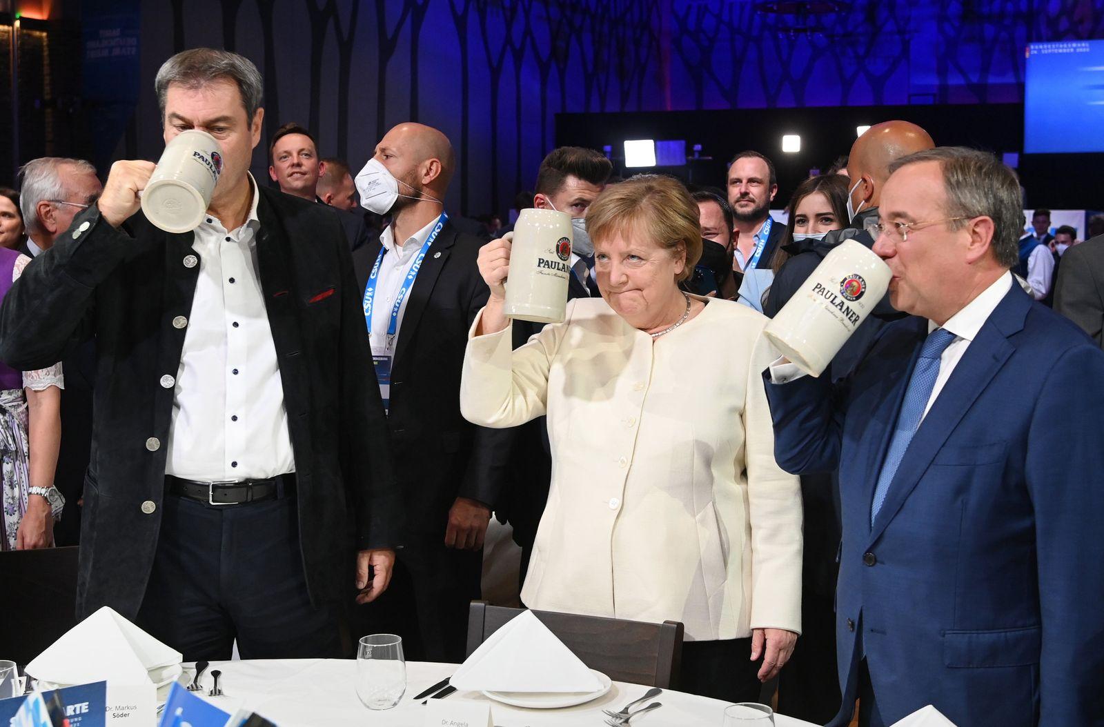 Wahlkampf CDU und CSU - offizieller Wahlkampfabschluss