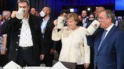 Merkel wirbt für Laschet, Scholz um die Rentner, Baerbock für einen früheren Kohleausstieg