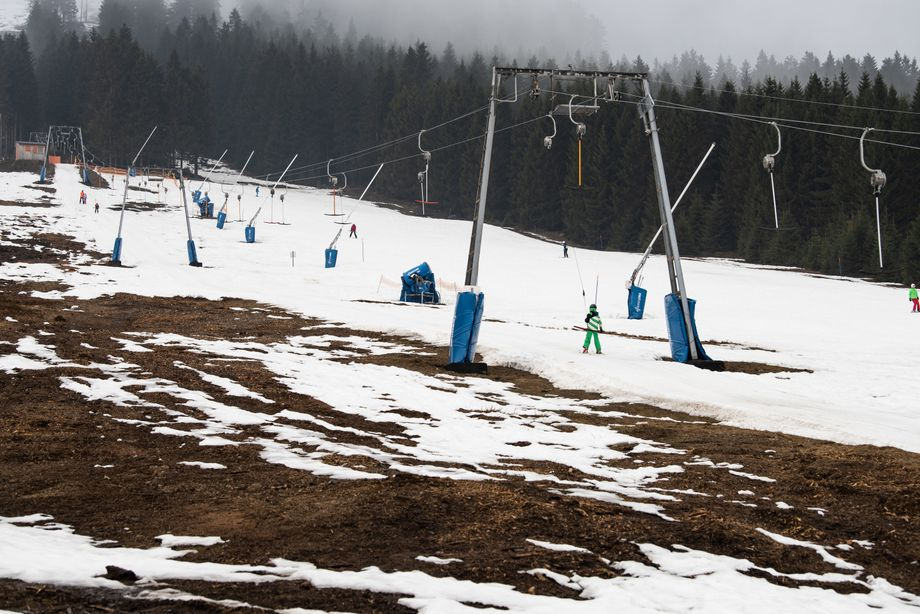 Skipiste im Harz am 1. März 2019