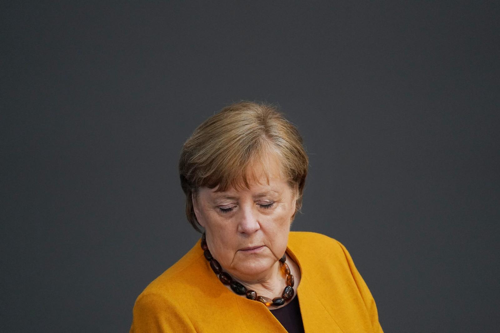Merkel Takes Questions At Bundestag Following Reversal Of Easter Shutdown