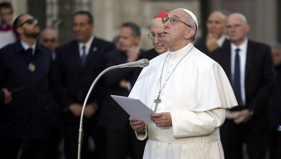 Papst Franziskus am 8.12. in Rom