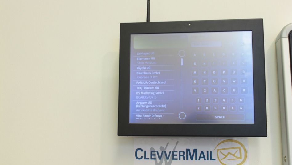 Digitales Türschild von ClevverMail