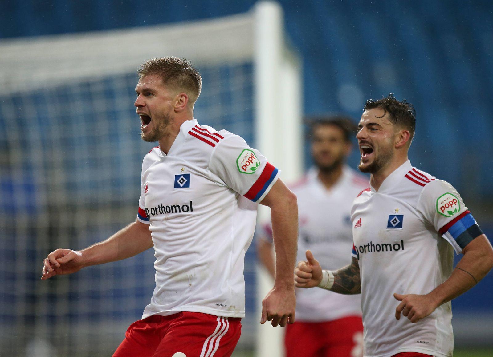 15.12.2020, Fussball 2. Bundesliga 2020/2021, 12. Spieltag, Hamburger SV - SV Sandhausen, im Volksparkstadion Hamburg.