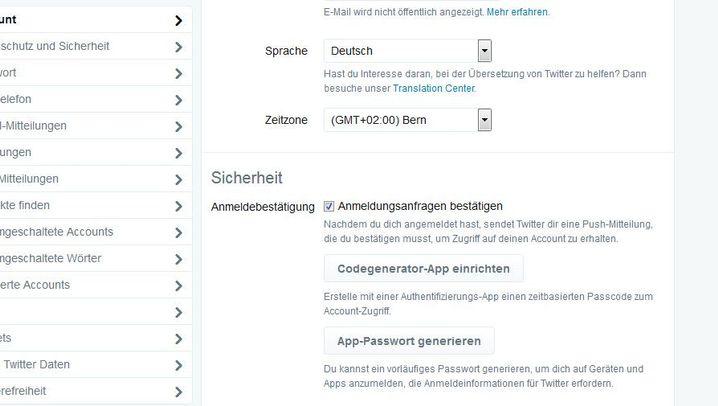 Zwei-Faktor-Authentifizierung: So geht es bei Twitter