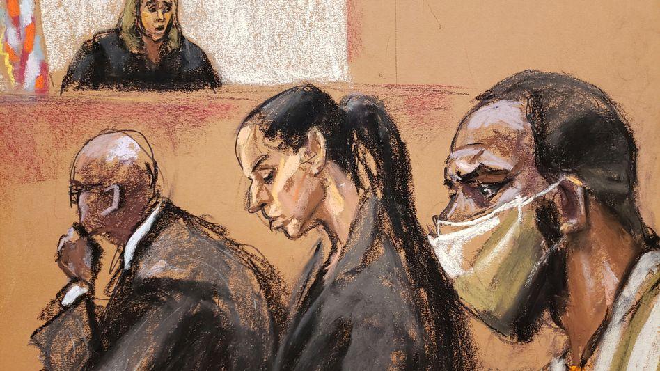 R. Kelly bei einer Gerichtsverhandlung am 8. Juli 2021