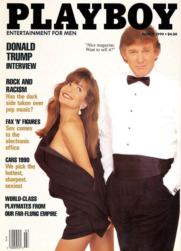 The March 1990 issue of Playboy featuring Trump on its cover.