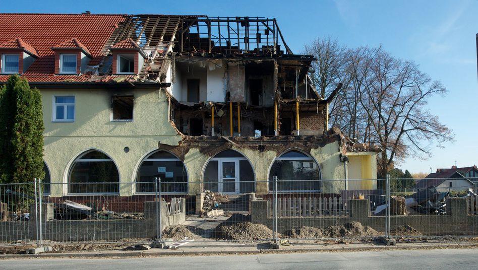 Durch Explosion zerstörtes Haus in Zwickau: Mutmaßlicher Unterstützer festgenommen