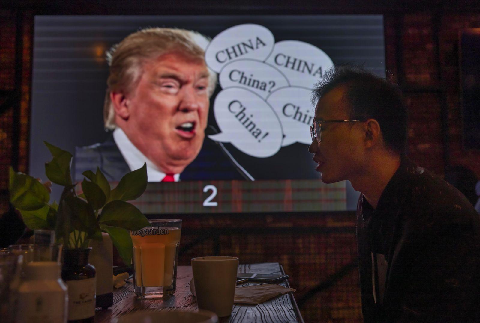 US Presidential trivia quiz in Shanghai, China - 03 Nov 2020