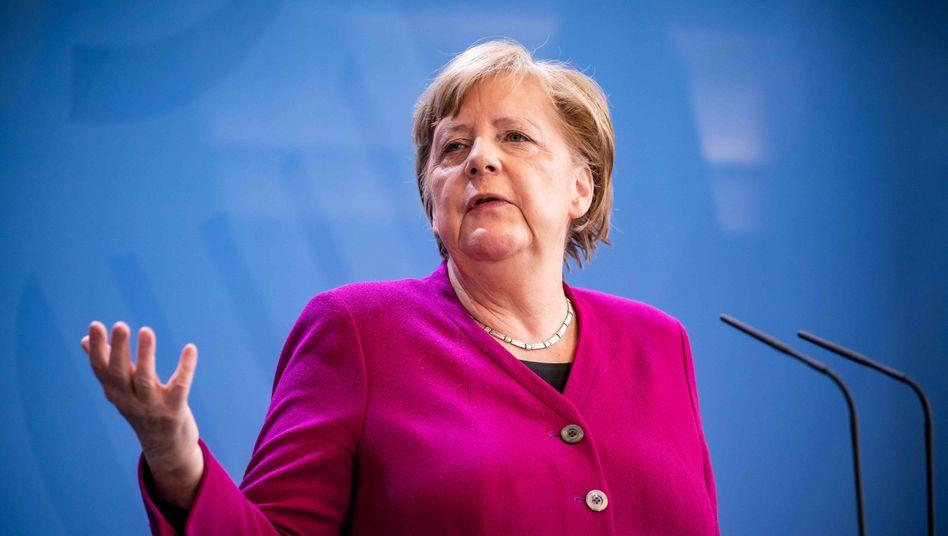 Angela Merkel sprach auf Petersberger Klimadialog in Berlin nur per Schalte - genauso wie die Minister aus 30 Staaten