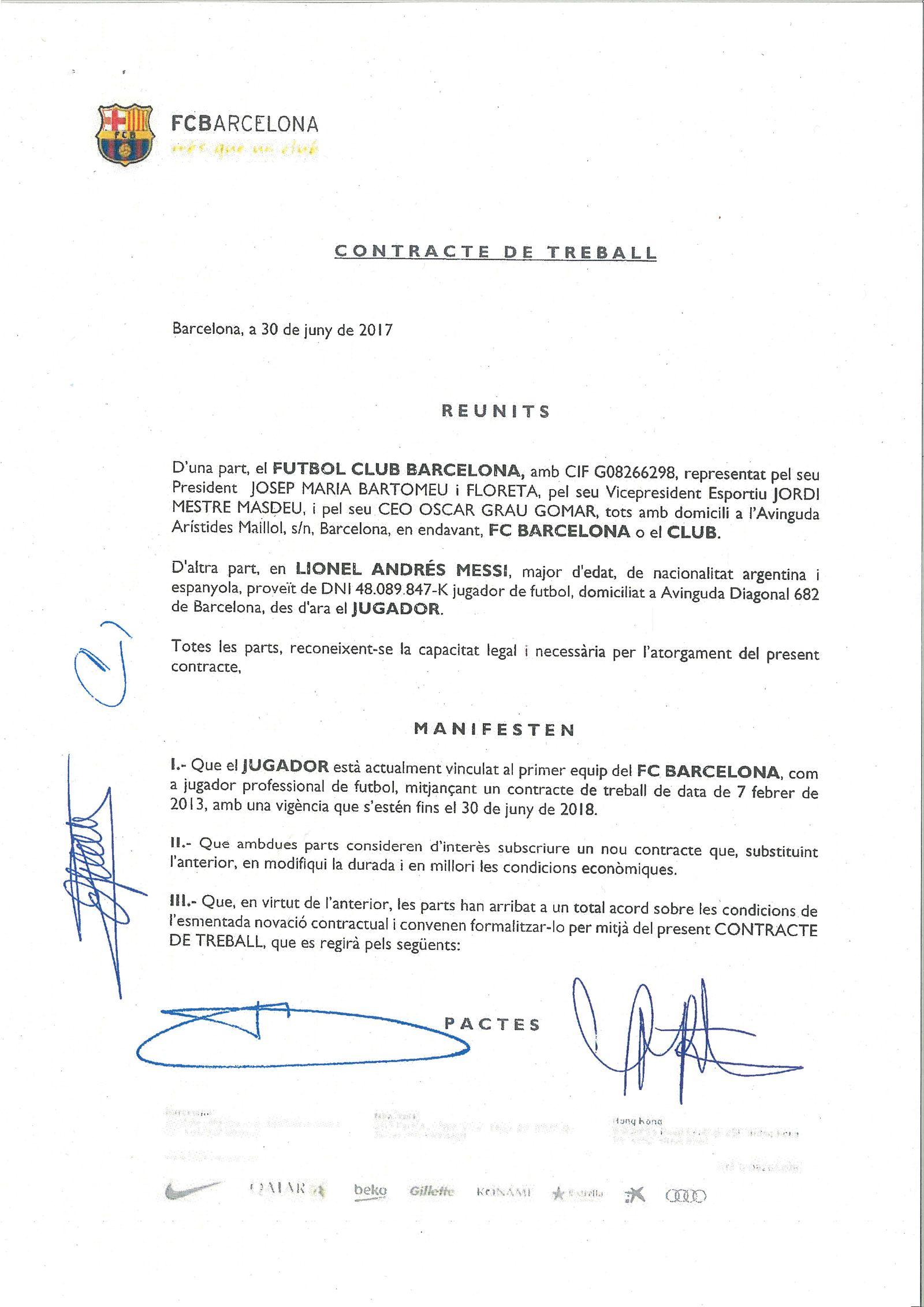 EINMALIGE VERWENDUNG Arbeitsvertrag Messis vom 30. Juni 2017 (SPIN/PLUS/VORAB)