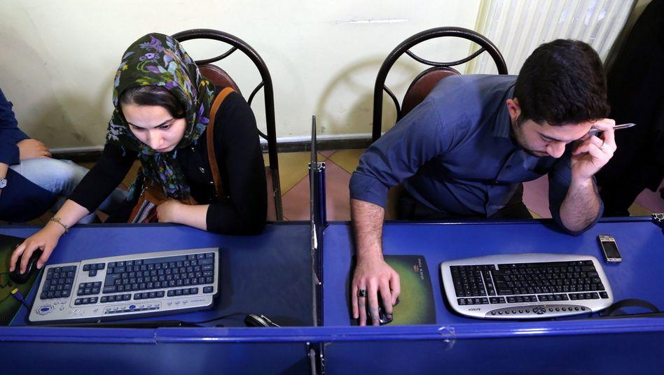 """Internetcafé in Teheran (Archivbild): """"Als hätten sie die WM gewonnen"""""""