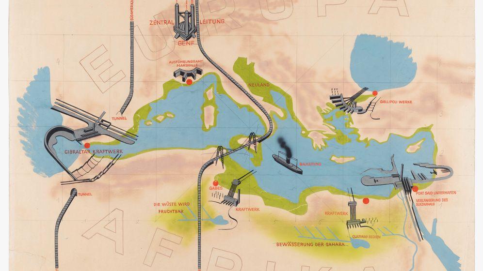 Entwurf des Atlantropa-Projekts von Herman Sörgel