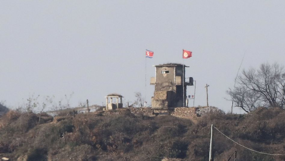 Nordkoreanischer Grenzposten
