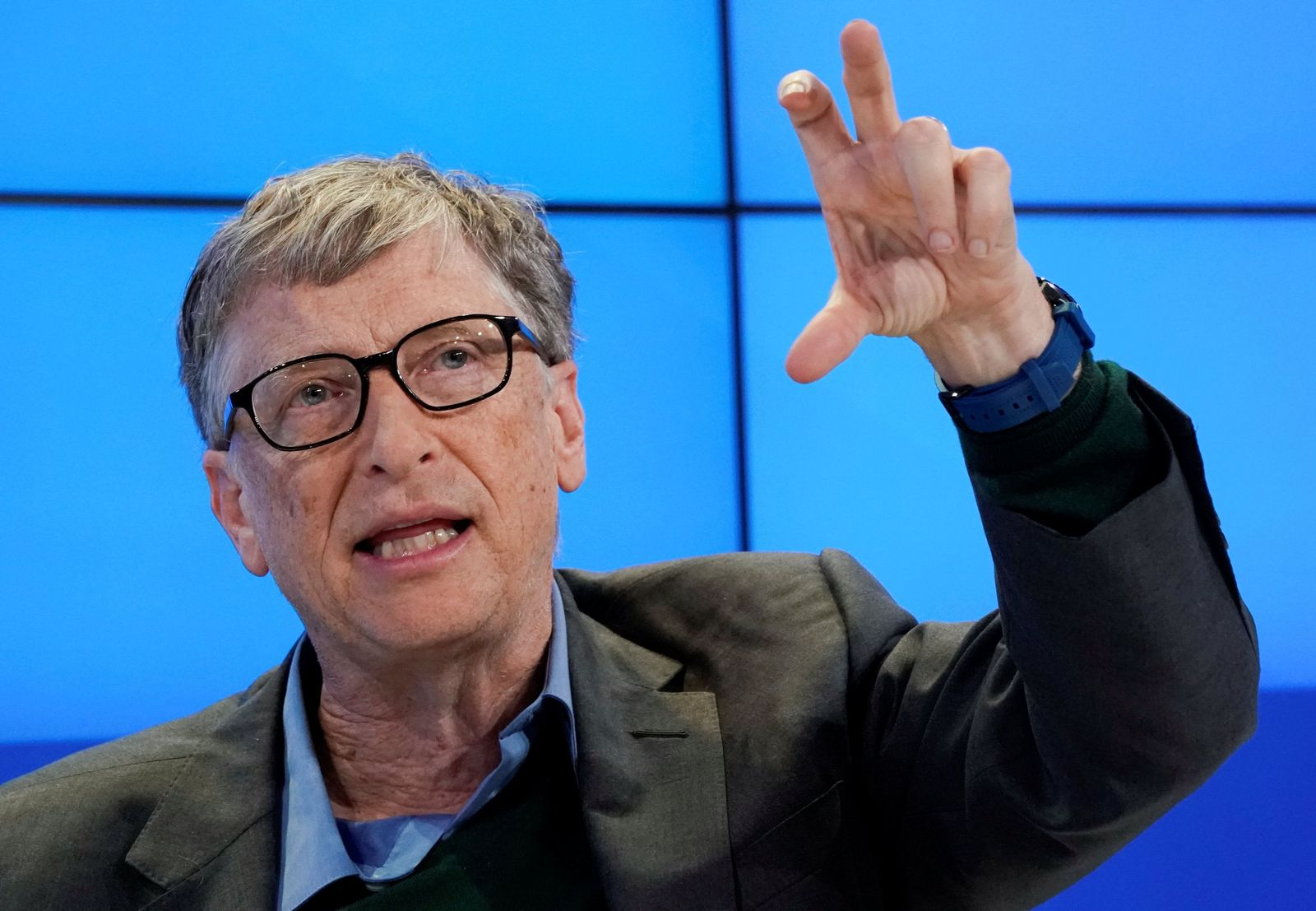 Bill Gates, Co-Chair of Bill & Melinda Gates Foundation, attends the World Economic Forum (WEF) annual meeting in Davos