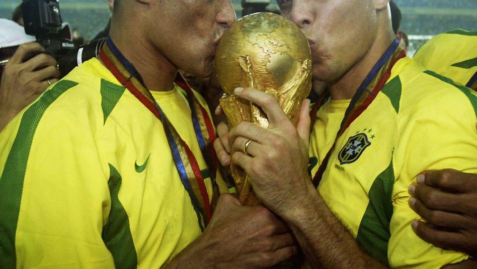 WM 2002 in Japan: Damals triumphierte Brasilien im Finale über Deutschland