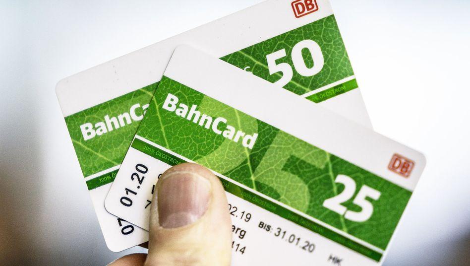 In Zukunft günstiger: Bahncard 25 und 50