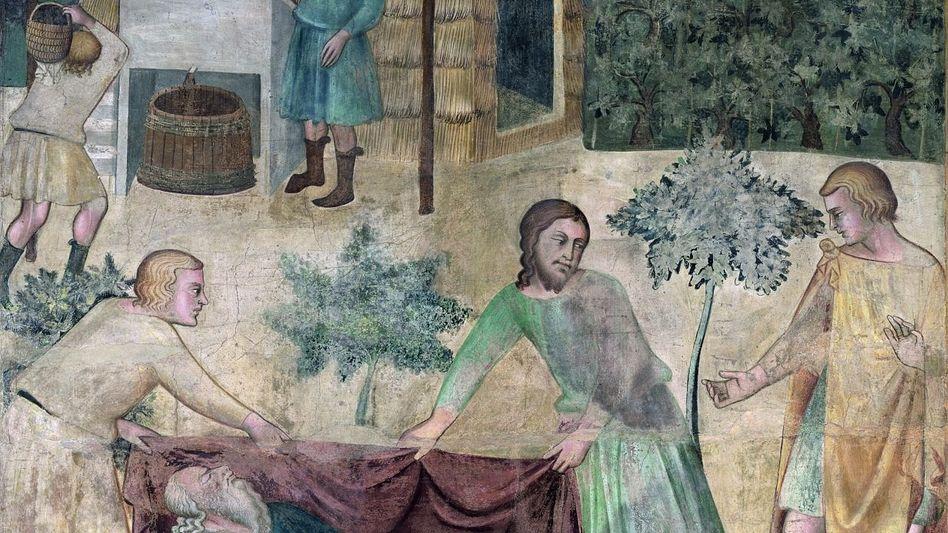 Noahs Trunkenheit Fresko, 14. Jahrhundert