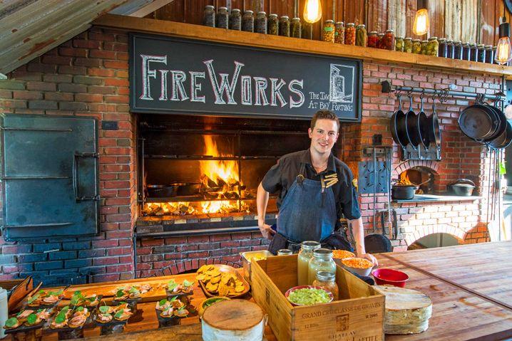 Beim FireWorks Feast im Inn at Bay Fortune auf PEI kommen die frischen, lokalen Produkte direkt auf den Grill.
