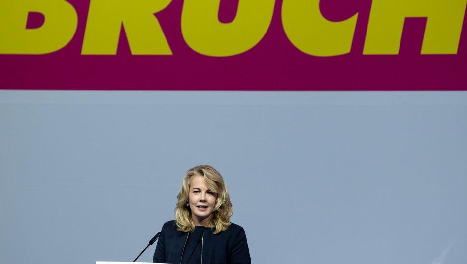 """Ex-Generalsekretärin Linda Teuteberg (am 19. September auf dem Bundesparteitag in Berlin): """"Die Darstellung kann ich definitiv nicht bestätigen"""""""
