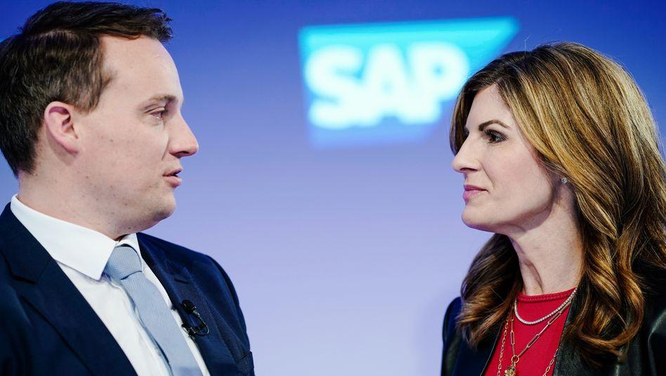 Christian Klein und Jennifer Morgan bildeten eine Doppelspitze bei SAP - aber nur sechs Monate lang