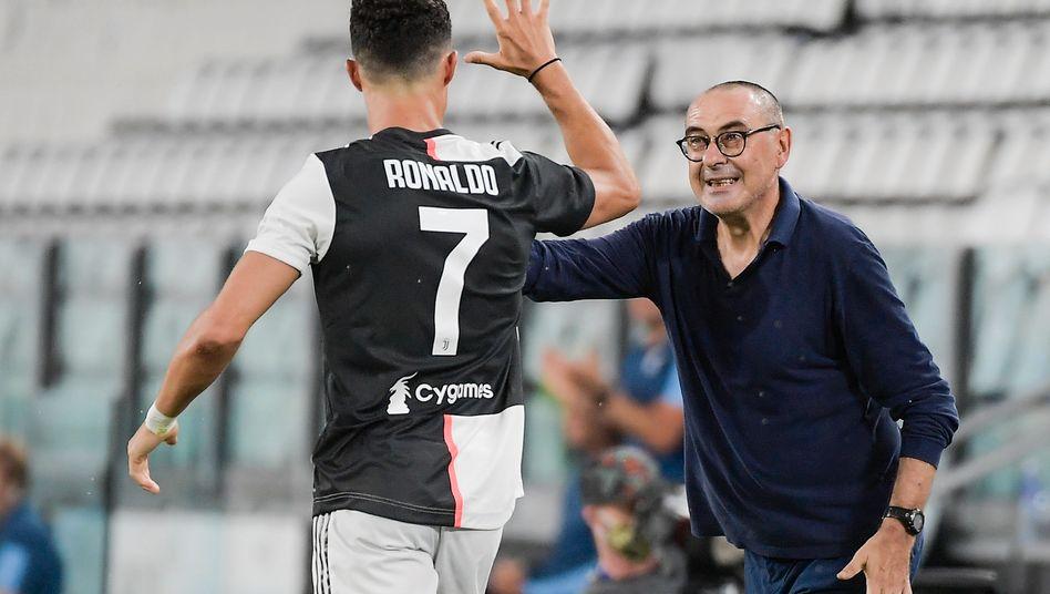Maurizio Sarri mit seinem Superstar