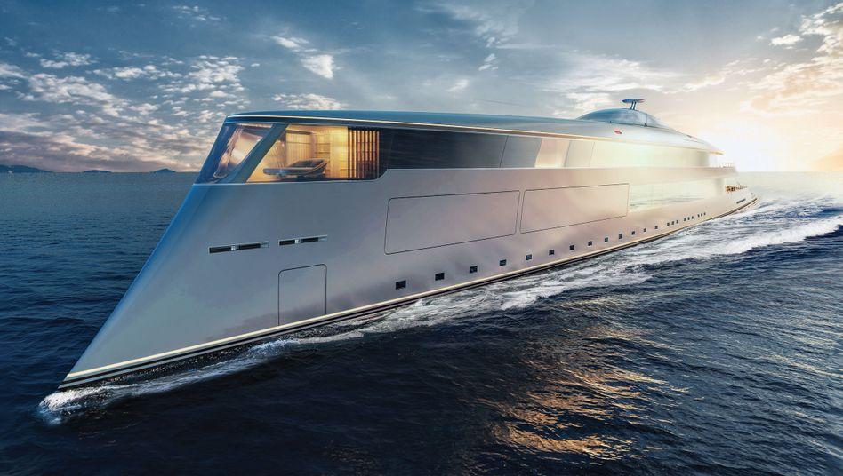 Diese Luxusjacht mit Wasserstoffantrieb hatte angeblich Bill Gates bestellt - die Designfirma Sinot, die das Schiff entwickelt, dementierte dies jedoch