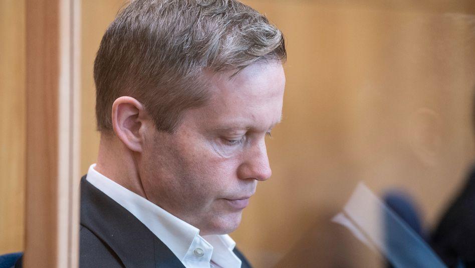 Der Angeklagte Stephan Ernst vor Gericht