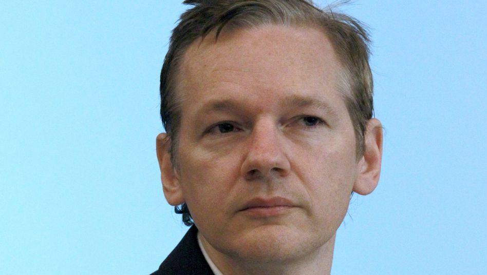 WikiLeaks-Gründer Assange (Archivbild): Frei gegen 200.000 Pfund Kaution