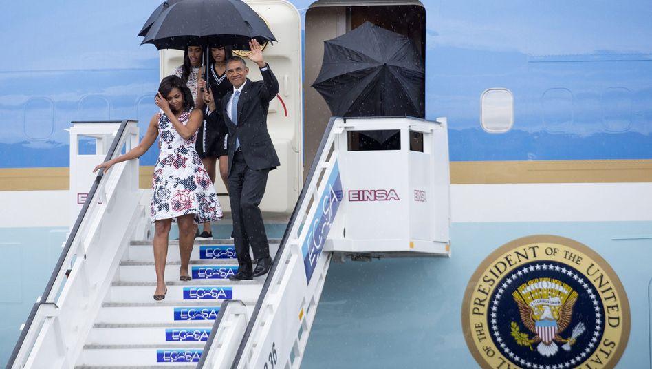 Besuch beim früheren Erzfeind: Obama in Kuba gelandet - Hoffnung auf Ende der Eiszeit