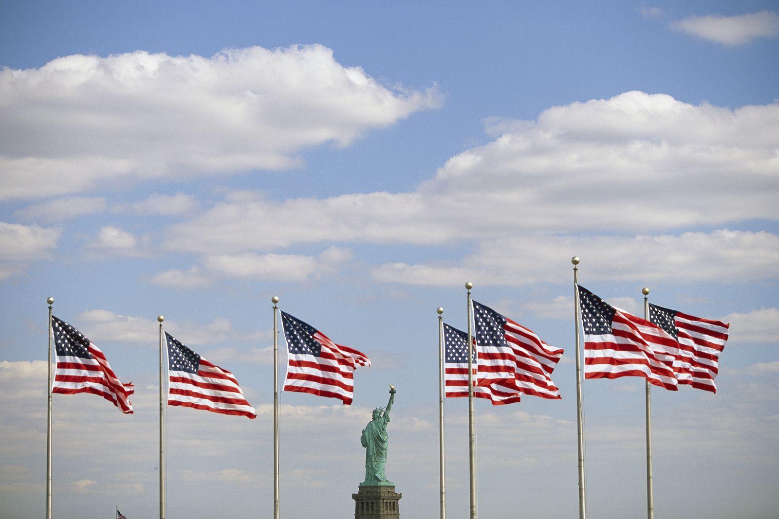 NICHT MEHR VERWENDEN! - Freiheitsstatue / USA / US Flagge