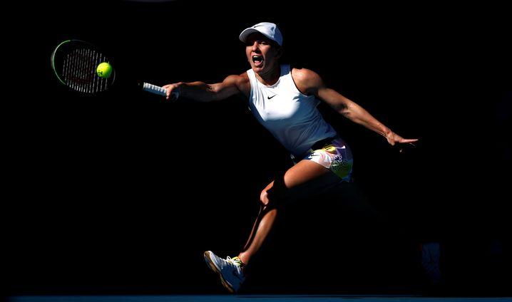 Simona Halep bei den Australian Open im Januar