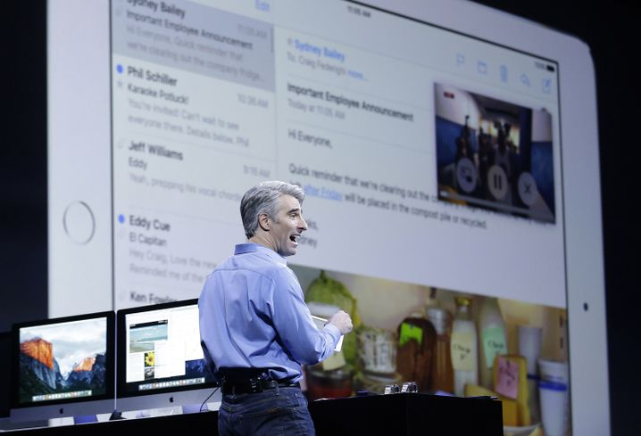 Apple-Manager Craig Federighi stellt das neue OS X vor