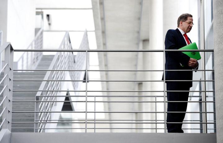 Verfassungsschutzpräsident Hans-Georg Maaßen vor seiner Vernehmung beim ersten NSA-Untersuchungsausschuss