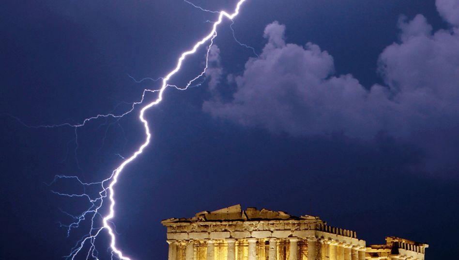 Gewitter über der Akropolis: Stillstand in Griechenland
