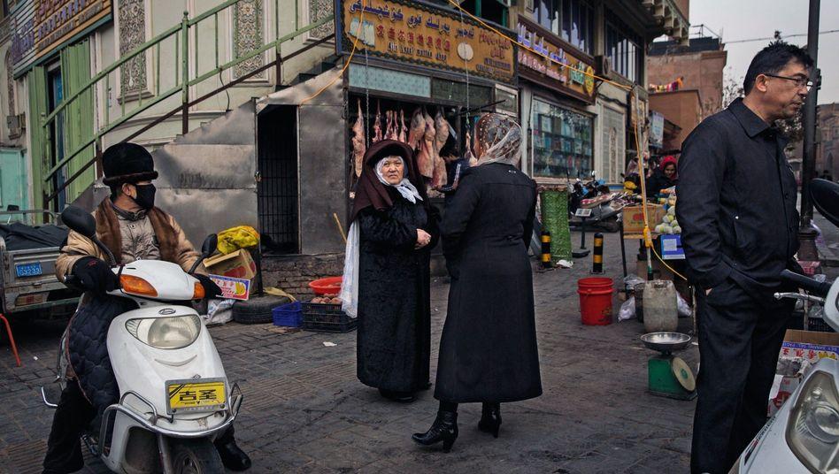 Muslimische Frauen in Kashgar